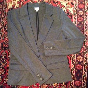 Gray knit blazer
